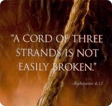 Three strands not easily broken